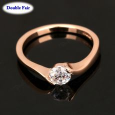 Austrian Cubic Zirconia Engagement/Wedding Finger Rings For Women Rose Gold Color Fashion Brand Jewelry For Women DWR239