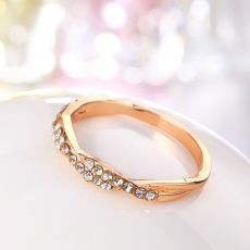 IPARAM Pattern Twisted Rope Hemp Flowers Ring  Gold Silver Color Micro Cubic Zirconia Tail Ring Fashion Women's Jewelry