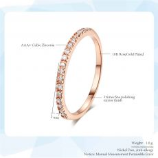 Micro Pave Cubic Zirconia Wedding/Engagement Rings White/Rose Gold Color Fashion Brand Crystal Ring Jewelry For Women DFR133