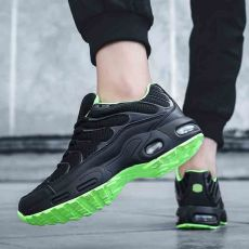 Professional Air Cushion Mesh Breathable Running Shoes Army Green Spring Autumn Walking Shoes Men Women Sneakers Size 36-47