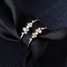 Stylish Fashion Women Ring Finger Jewelry Rose Gold /Sliver /Gold Color Rhinestone Crystal Opal Rings 6/7/8/9 Size Hot Sale