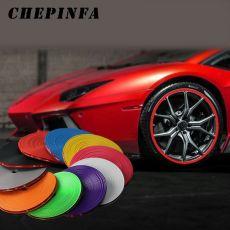 Car wheel strip Wheel Rim Sticker Chrome Wheel Decoration Auto Tire Rims Plated Protection Decoration