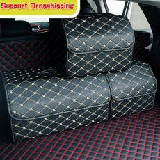 Car Storage Bag PU Leather Trunk Organizer Box Storage Bag