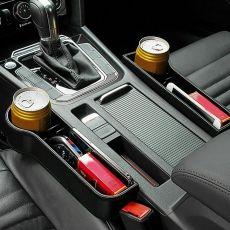 Auto Car Seat Crevice Plastic Storage Box Cup Phone Holder Organizer
