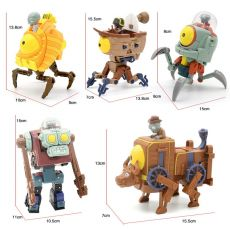 5 in 1Deformation Genuine Plants Vs. Zombie Toys 2 Complete Set Of Large Ejection Soft Silicone Anime Figure Boy Birthday Gifts