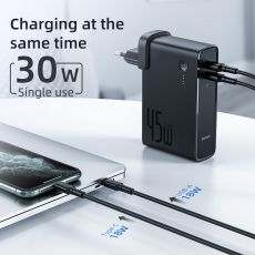 Baseus  2 in 1 GaN Power Bank Charger 10000mAh 45W USB C PD Fast Charging Charger & Battery in one ForiP 11 Pro Laptop ForXiaomi