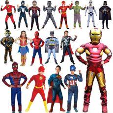 Boy & Girl Super Hero Cosplay Costume for Boys Carnival Halloween  for Kids