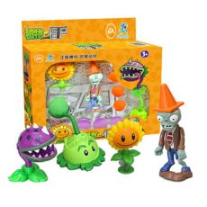 Large Genuine Plants vs. Zombie Toys  Complete Set of Boys Ejection Soft Silicone Anime Action Figures For Kids Christmas Gifts