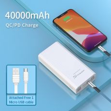 Power Bank 40000mah QC 3.0 PD 18W Two-Way Quick Charge Bank Power External Battery Powerbank Type-C Power Bank For IPhone Xiaomi