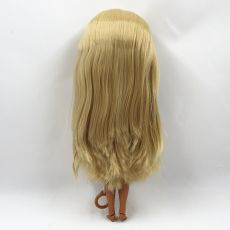 Special Price Blyth Joint body Nude Doll straight blond hair with/without bangs new matte shell dark Skin 30cm Suitable For DIY