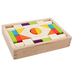 High quality wooden 30 pieces color wooden boxed wooden blocks children's educational big building blocks toys