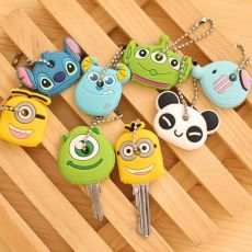 Cartoon Anime Cute Key Cover Key Wallet With Chain Silicone Key Holder Case Cute Key Protective Wallet Hook N120