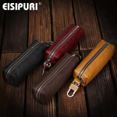 EISIPURI Genuine Cow Leather Men Women Key Bag Small Business Kay Case Women Housekeepers Wholesale