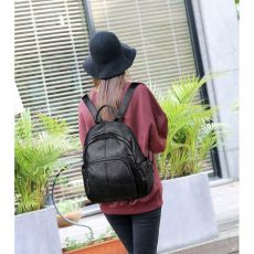 High Quality New Women Leather Backpacks Vintage Ladies Bagpack School Bags for Girls Sac A Dos Solid Travel Back Pack Mochilas