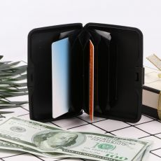 Women Fashion Color Printing RFID Anti-theft Business Card Box Credit Card Pocket Wallet Holder Aluminum Card Case Waterproof