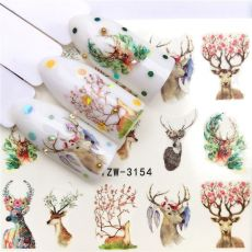 nail sticker nail art nail art decorations nail accesoires 2020 city night feather maple seahorse halloween green leaf