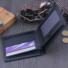 Men Bifold Business Leather Wallet ID Credit Card Holder Purse Pockets #3G24