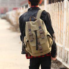 Scione Canvas Men's Backpack School Rucksack Men Drawstring Backpacks Women Travel Shoulder Bagpack Teenagers Laptop Back Pack