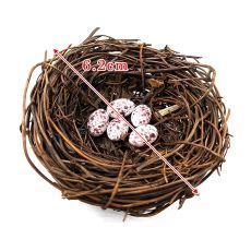 DIY Simulation Animal model Parrot Bird Nest Egg figurine Bonsai home decor miniature fairy garden decoration accessories modern