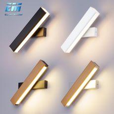 wooden Modern Led Wall Light Rotating Sconce Lamp