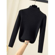 ON SALE 2020 Autumn Winter women long sleeve turtleneck Tight stretch pull sweaters office pullover korean clothes clothing