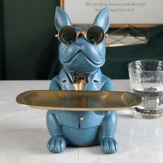 Cool Bulldog Statue Table Decoration Fashion Sculpture Home Room Decor Multifunction Desk Storage Figurine Decorative Coin Bank