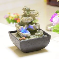 Decorative Indoor Water Fountains Resin Crafts Gifts Feng Shui Wheel Desktop Water Fountain for Home Office Teahouse Decoration
