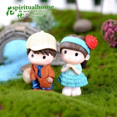 2pcs Next Door Lovers Moss Micro Landscape Zakka Mini Resin Handicraft Decor DIY Micro Landscape Garden Decor Miniature Craft