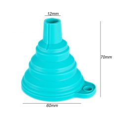 Mini Foldable Funnel Silicone Collapsible Funnel Folding Portable Funnels Be Hung Household Liquid Dispensing Kitchen Tools ^^