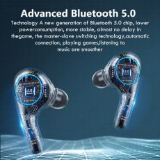 Wireless Headphones with Mic TWS Bluetooth Earphones Noise Cancelling Hifi Stereo Earbuds All Day Play Sport Waterproof Headsets