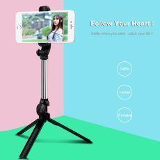 360 Rotating Bluetooth Tripod Selfie Stick for iPhone Samsung Mobile Phone Selfie