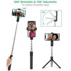 Protable Mini bluetooth Selfie Stick Remote Control Tripod Monopod Rotatable Clamp