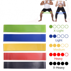 Yoga Resistance Rubber Bands Indoor Outdoor Fitness Equipment 0.35mm-1.1mm Pilates Sport Training Workout