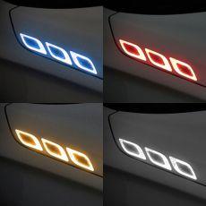 6Pcs/Set Car Reflective Strips Carbon fiber Car Sticker Truck Auto Motor Anti-Scratch Safety Warning Sticker Car Accessories