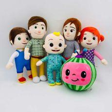 Melon JJ Plush Toys Cocomelon Kids Gift Cute Stuffed Toy Educational Plush Doll