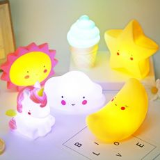 Star Moon Cloud Led Night Lamp Baby Children's Room Decoration Bed LED Toy Bedroom Decoration Shape Light Baby Kids Toys Gifts