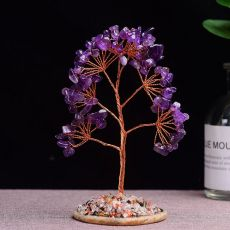 1pc Natural  Amethyst Rose Quartz Tree of Life Rock Mineral Specimen Reiki Healing Home Decoration DIY gifts Souvenir