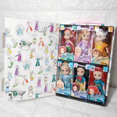 6pcs/set Disney Frozen 2 Anna Elsa Princess Action Figures Model Toy Doll For Girls