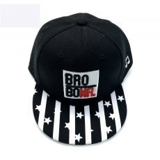 Children's hat striped letter hip-hop hat Spring and Autumn new three-dimensional embroidered brim baseball cap