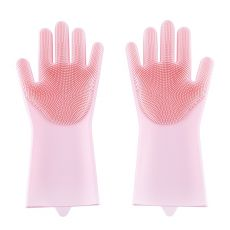 Magic Dishwashing Silicone Gloves Protect Hand Dirt Clean Brushes Cleaning Tool Kitchen Accessories Wash Fruit Vegetable Gadgets