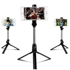 Tripod Monopod Bluetooth Selfie Stick with Button Remote Camera