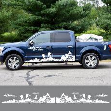 Car Door Side 4x4 Off-Road Image vinyl stripes Stickers For Ford Ranger Raptor F150 F-150 Car Sticker Decals DIY 8pcs