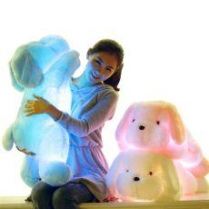 50cm Creative Light Up LED Teddy Dog Stuffed Animals Luminous Plush Toy for Kids