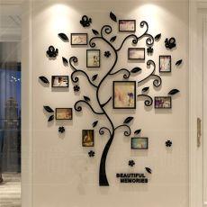 3D Family Tree Wall Sticker Acrylic Photo tree Home Decor Wall Poster Sticker