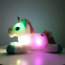 40cm Colorful LED Unicorn Plush Toys Glowing Stuffed Animals Horse Toy Cute Light Up Pony Doll Kids Girls Xmas Birthday Gifts