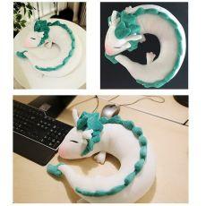 Dragon Anime Miyazaki Hayao Spirited Away Haku Cute U Shape Doll Plush Toys Pillow