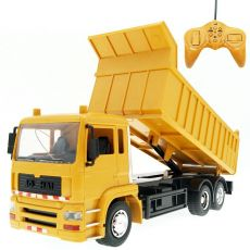 Rc Cars  Dump Truck Vehicle Toys For Children Boys Xmas Birthday Gifts Yellow Color Transporter Engineering Model Beach Toys
