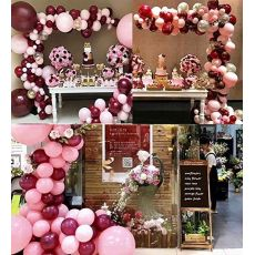 110pcs Balloons Pink Gold Confetti Balloons Garland Arch and Gold Party Baby Shower Burgundy and Gold Wedding Decorations