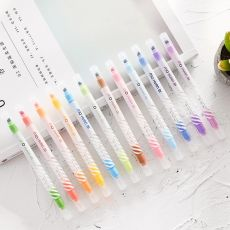 12pcs Magic color drawing pen set Discolored highlighter marker spot Liner pens Scrapbooking art supplies Stationery School F809