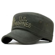 Corps Cap Hat Military Hats Camouflage Flat Top Hat Men Cotton Hat  Navy Embroidered Camo Hat